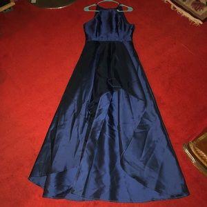 Dresses & Skirts - High Low Navy Blue Prom Dress